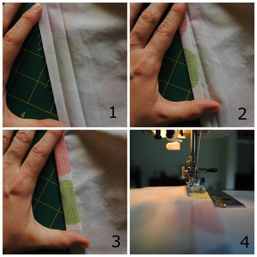 Fitted cot sheet tutorial - create the elastic casing