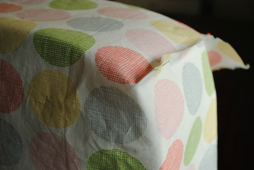 Fitted cot sheet tutorial - corner seam wrong sides together
