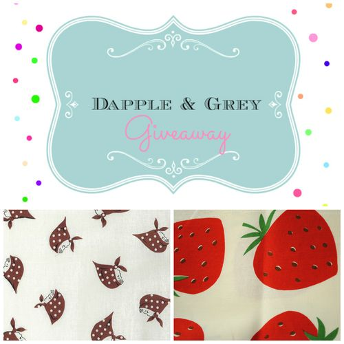 Giveaway of Kerchief Girls and Kokka Strawberries
