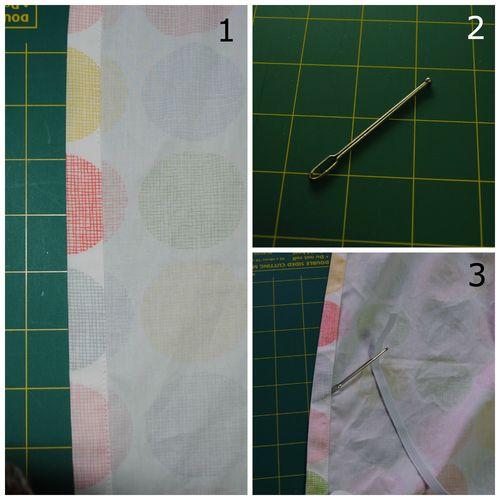Fitted sheet tutorial - feeding elastic through