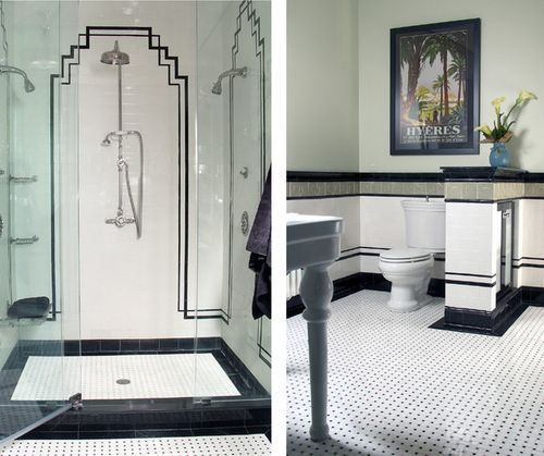 Art deco tiling